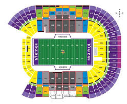 Us Bank Vikings Seating Chart Tcf Bank Stadium Minnesota Golden Gophers Football Stadium
