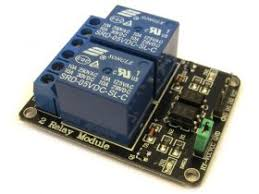 <b>2 Relay</b> Module, <b>5V</b>, 10A, Opto Isolated, for Arduino/PIC/AVR