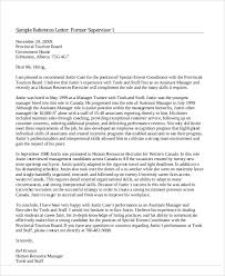 Colleague Reference Letter Coworker Template Character Sample Work