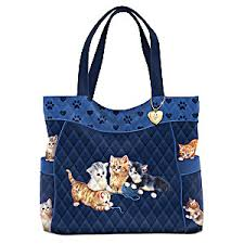 Kitty-Kat Cute Quilted Tote Bag & Jürgen Scholz