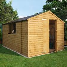 loglap wooden shed with double doors garden sheds garden buildings direct