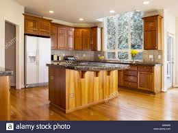 Oak Floor Kitchen Modern Daylight Kitchen With Solid Red Oak Flooring Cherry Wood