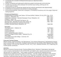 Contract Trainer Sample Resume