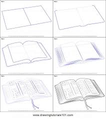 how to draw an open book printable step by step drawing sheet drawingtutorials101