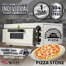commercial pizza deck oven single countertop electric stone base