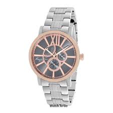 kenneth cole watch mens rose gold dial w silver stainless steel new kenneth cole watch for men rose gold dial w silver stainless steel kc9283