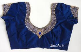 Blue Color Saree Blouse Designs Simple Blue Sari Blouse Designs Blouse Designs Blouse
