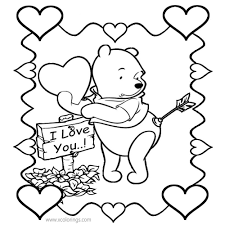 720 x 1024 file type: Winnie The Pooh Valentines Coloring Pages I Love You Xcolorings Com