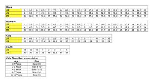 48 Veritable Kickers Size Chart
