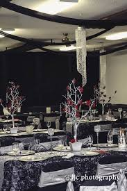 Sparkles Event Decor And Design Adorable Burgundy Black And Silver Wedding With Lots Of Rosette Fabrics