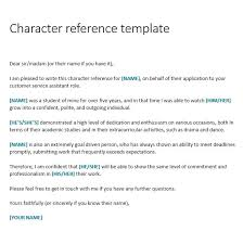 Sample Of A Character Letter Sample Character Reference For Court Australia Letter Template