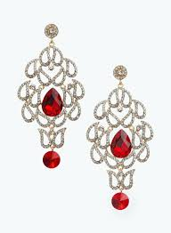 fresh red chandelier earrings or ruby red clear crystal chandelier earrings red hi res 17 red