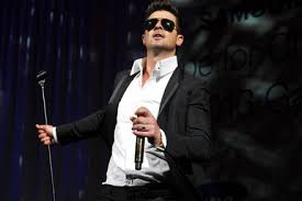 robin thicke. Perfect Thicke Robin Thicke Performs In New York City With