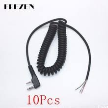 kenwood microphone wiring online shopping the world largest frezen 10pcs diy 4 wire microphone cable k plug 2pins for kenwood tk370 wouxun baofeng puxing