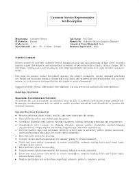 Resume Job Responsibilities Examples Resume Bank