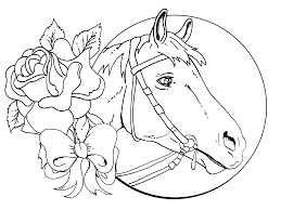 Detailed Christmas Coloring Pages Download Horse