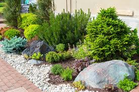 Small Picture Natural Stone Landscaping In Home Garden Stock Photo Picture And