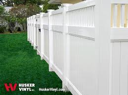 Vinyl fencing Ranch Style Privacy Fencing Products Husker Vinyl Inc