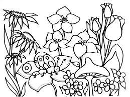 Spring Coloring L5749 Coloring Page Spring Season Nature Printable