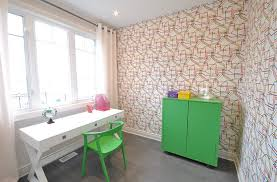 office wallpaper design. Turn To Wallpaper Add Some Pattern The Contemporary Home Office [ Design: Phoenix Design M