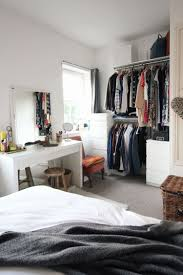 White, Grey And Metallic Bedroom Theme. Scandinavian, Simple And Functional  Style.