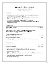Open Office Resume Delectable Resume Templates For Openoffice Chronological Resume Template For
