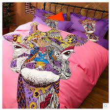 funky artsy animal print pink teen guy bedding sets