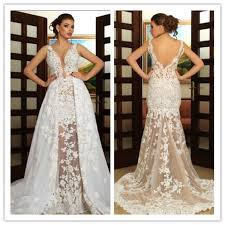 white wedding dresses straps sleeves wedding gown lace wedding