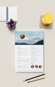 Free Minimalistic Resume Cv Illustrator On Behance