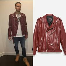 style stephen curry s instagram zara biker jacket