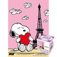 image is loading banbao peanuts snoopy love in paris cube jigsaw