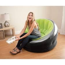 intex inflatable lounge chair. Intex Inflatable Air Chair \u2014 Lime Green Lounge U