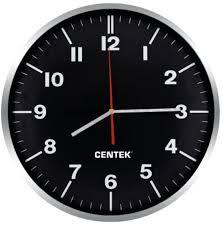 Настенные <b>часы Centek CT-7100</b> Black — цена, купить недорого ...