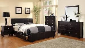 Platform Bedroom Furniture Furniture Of America Comiso Espresso Leatherette Platform Bed