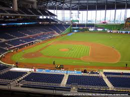 Miami Marlins Interactive Seating Chart Marlins Park View From Legends Platinum 209 Vivid Seats