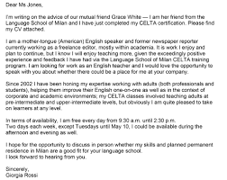 Lettera Di Presentazione Come Scrivere Una Lettera Di Presentazione In Inglese Con