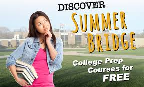 female student on cus thinking about summer bridge