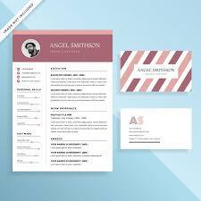 Creative Resume Cv And Business Card Template Design Set Vector