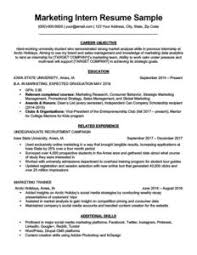 How To Write An Internship Resume 80 Resume Examples By Industry Job Title Free