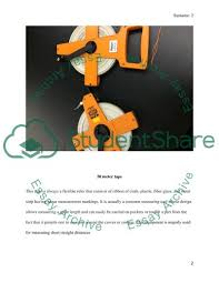 Surveying Taping Taping Over Uneven Ground Lab Report Example Topics And