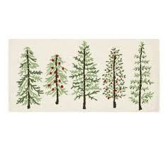 forest tree kitchen mat