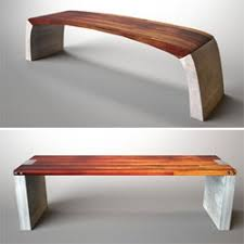 concrete and wood furniture. Acronym Creates Really Nice Reclaimed Wood Furniture. I Love The Mixture Of Hardwood And Concrete Furniture E