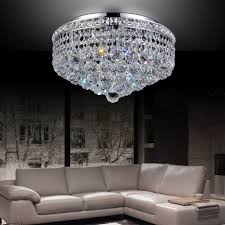 crystal flush mount chandelier. CWI Lighting Luminous Crystal Flush Mount Chandelier