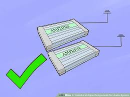 wiring car audio system wiring image wiring diagram 6 ways to install a multiple component car audio system wikihow on wiring car audio system