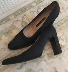 ELLEN TRACY Barton Black Patent & Fabric Pumps Heels-Sz.6B | eBay