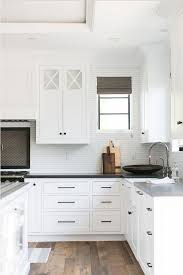 Kitchen Hardware Crisp white kitchen hardware Kitchen hardware is Top Knobs Square Bar Pull kitchen cabinet Hardware pulls Brooke Wagner Design