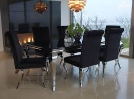 stunning black dining set black glass dining room table with 6 chairs barclaydouglas