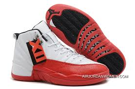 Air Jordans 12 Retro White Varsity Red Black Top Deals