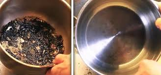 clean uncleanable scorched spots from pots