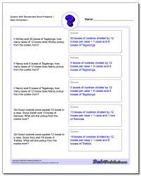 20 word problems worksheets